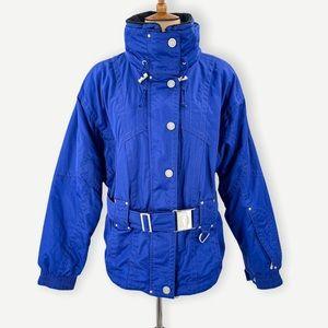 Marker vintage royal blue winter ski jacket, snowboard jacket, size 12
